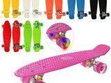 Детский скейт (Пенниборд), светящиеся колеса