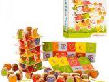 Деревянная игра Башня из фруктов 3в1 Шнуровка