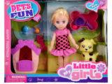 Игровой набор кукла  с питомцем в будке