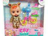 Куклы пупсы CRY BABIES с велосипедом и аксессуарами