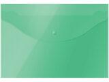 Папка-конверт с кнопкой OfficeSpace, А4, 150 мкм, зеленая