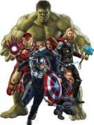 Герои мультфильмов и супергерои