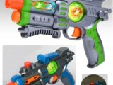 Пистолет-бластер со светом, звуком и вибрацией