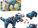 Конструктор Qman 4803 3в1 трансформер дракон+транспорт 375 деталей